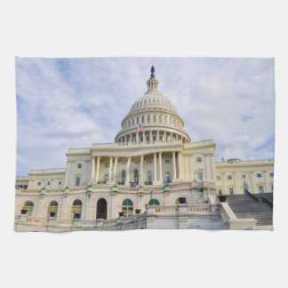 Capitol Hill Building in Washington DC Kitchen Towel