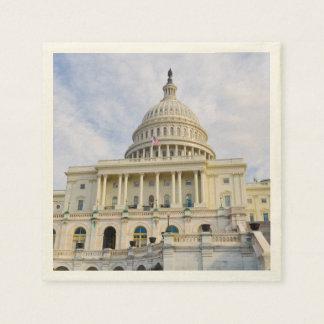 Capitol Hill Building in Washington DC Paper Napkin