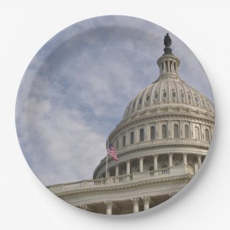 Capitol Hill Building in Washington DC Paper Plate