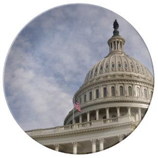 Capitol Hill Building in Washington DC Porcelain Plates