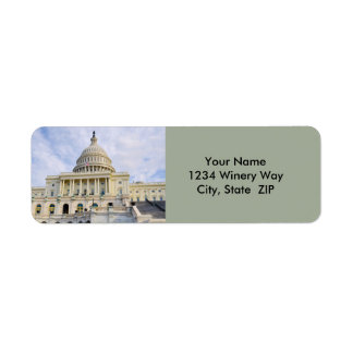 Capitol Hill Building in Washington DC Return Address Label