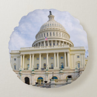 Capitol Hill Building in Washington DC Round Pillow