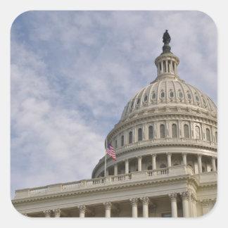 Capitol Hill Building in Washington DC Square Sticker