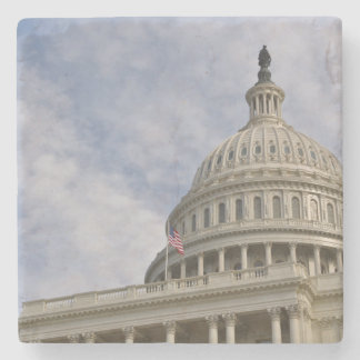Capitol Hill Building in Washington DC Stone Coaster