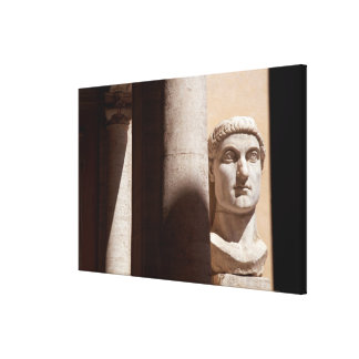 Capitol museum, bust face of emperor constantine canvas print