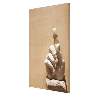 Capitol Museum, hand  from emperor constantine Canvas Print