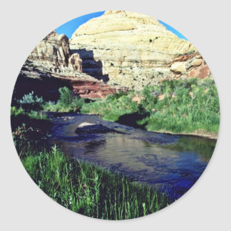 Capitol Reef Formation - Capitol Reef National Par Round Sticker