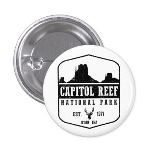 Capitol Reef National Park 1 Inch Round Button