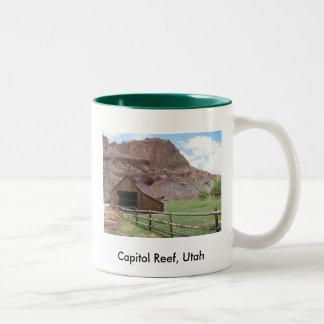 Capitol Reef, Utah Two-Tone Coffee Mug