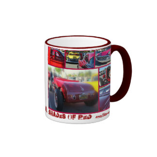 Capitola , Ca. Shades of RED Ringer Mug