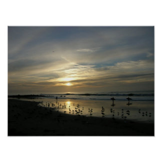 Capitola Sunset Beach Poster