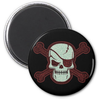 Cap'n Curly III 2 Inch Round Magnet