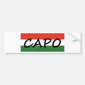 Capo with green and red stripes, show style! bumper sticker