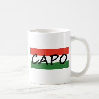 Capo with green and red stripes, show style! coffee mug