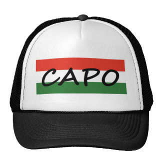 Capo with green and red stripes, show style! trucker hat