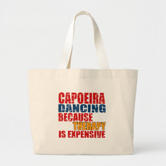 Capoeira Dance Designs Large Tote Bag