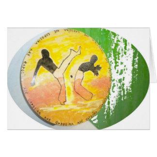 capoeira ginga axe card