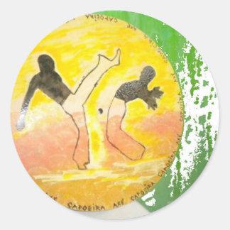 capoeira ginga axe sticker