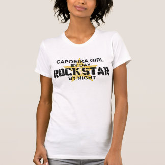 Capoeira Girl Rock Star by Night T-shirt