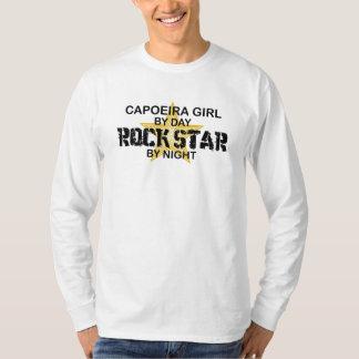 Capoeira Girl Rock Star by Night Tee Shirt