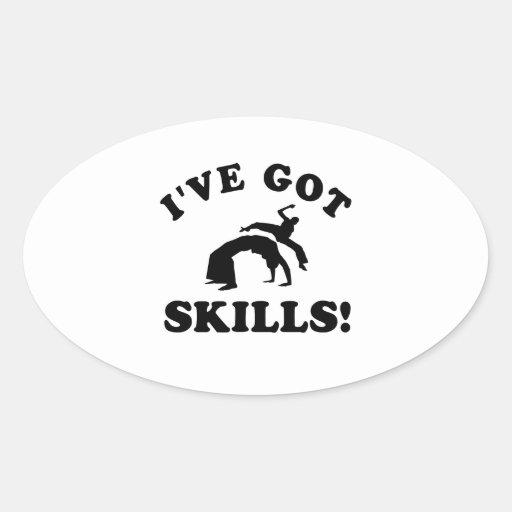 capoeira skills vector designs oval stickers