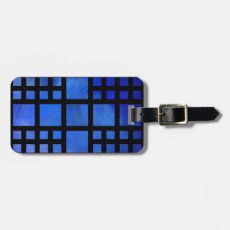 Cappanella V1 - blue squares Luggage Tag