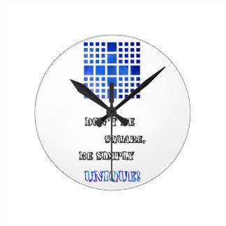 Cappanella V1 - blue squares Wallclocks