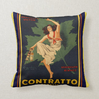 Cappiello Contratto Canelli Throw Pillow