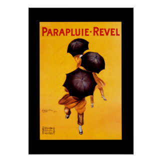 """Cappiello Poster Umbrella """"Parapluie - Revel"""""""