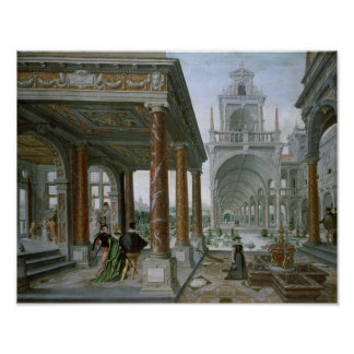 Cappricio of palace architecture poster