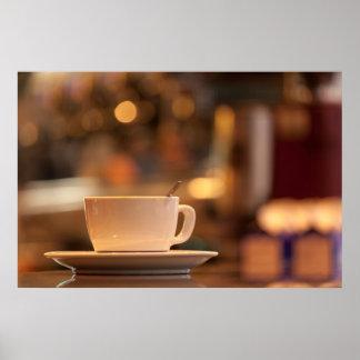 Cappuccino coffee, Venice, Italy Poster