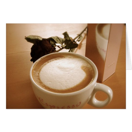Cappuccino & Enchanted Rose Card