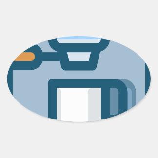 Cappuccino Machine Oval Sticker