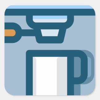 Cappuccino Machine Square Sticker