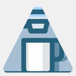 Cappuccino Machine Triangle Sticker