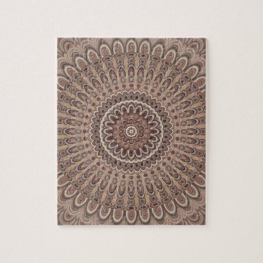 Cappuccino mandala jigsaw puzzle