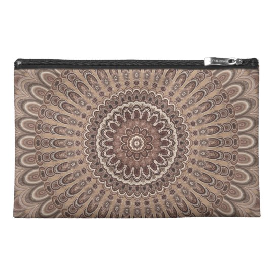 Cappuccino mandala travel accessory bag