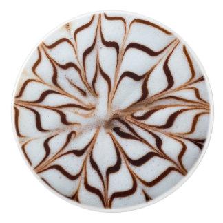 Cappuccino Pattern Ceramic Knob