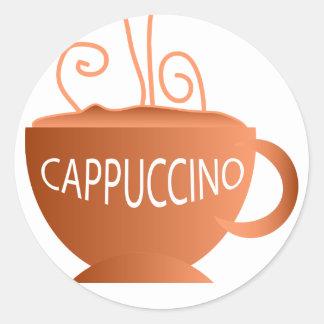 Cappuccino Round Sticker
