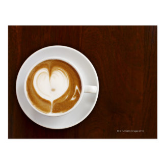 Cappuccino with love postcard