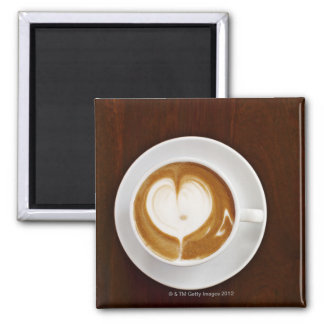 Cappuccino with love square magnet