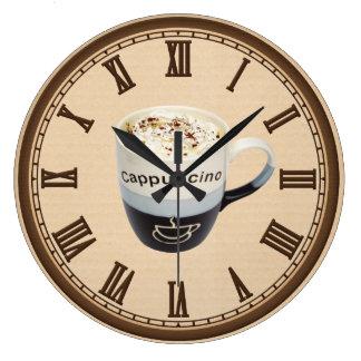 Cappucino Coffee shop fun wall clock