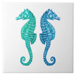 Capr Seahorse Reflect Ceramic Tile