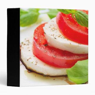 Caprese Salad. Tomato and Mozzarella slices Binders