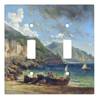 Capri Beach Ocean Fishing Boats Light Switch Cover