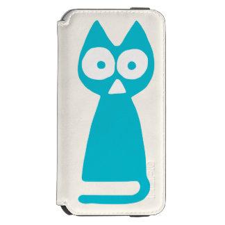 Capri blue Triangle Symbolic Cat Incipio Watson™ iPhone 6 Wallet Case