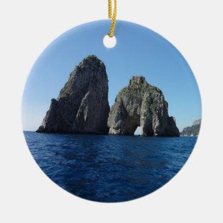 Capri Faraglion Rocks Italy Ceramic Ornament