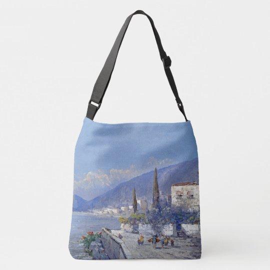Capri Island Coast Italy Flowers Ocean Tote Bag
