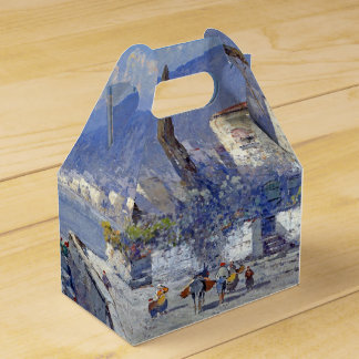 Capri Island Italy Flowers Blue Favor Box