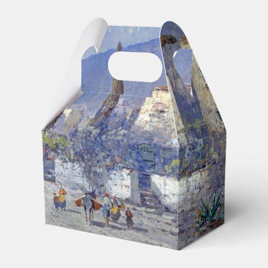 Capri Island Italy Flowers Blue Favour Box Wedding Favor Boxes